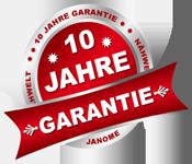 10 Jahre Janome Garantie bei der Nähwelt Schweizer