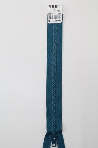 YKK - Reissverschlüsse 25 cm - 80 cm, teilbar, petrol