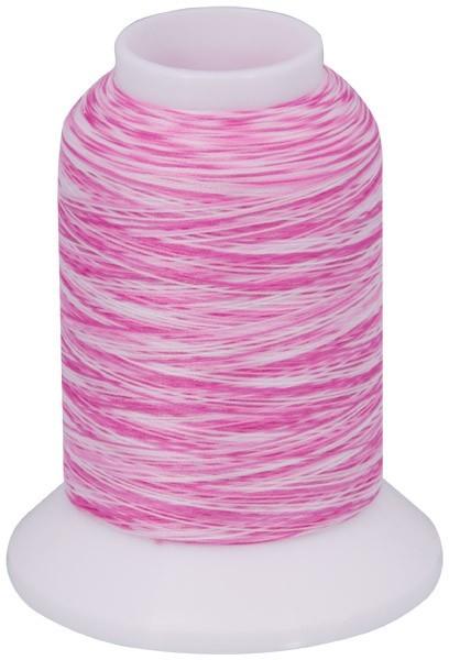 Multicolor Bauschgarn, 1000m (mehrfarbig rosa/weiss)