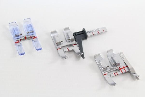 3er Füsschen Set für PFAFF Maschinen zum perfekten Absteppen und Applizieren