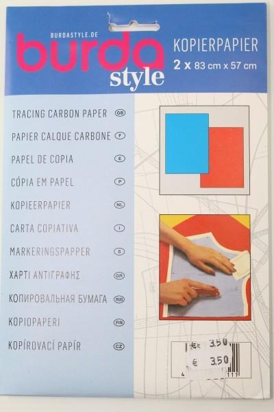 Kopierpapier 2 x 83cm x 57cm ( rot und blau)