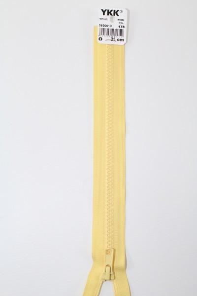 YKK - Reissverschlüsse 25 cm - 80 cm, teilbar, lemon