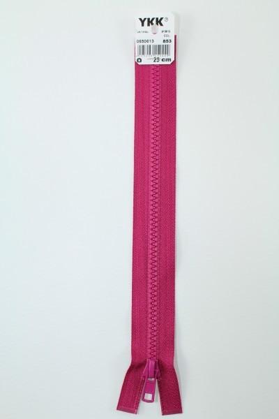 YKK - Reissverschlüsse 25 cm - 80 cm, teilbar, bordeauxviolett