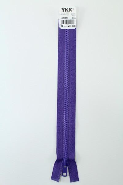 YKK - Reissverschlüsse 25 cm - 80 cm, teilbar, blaulila