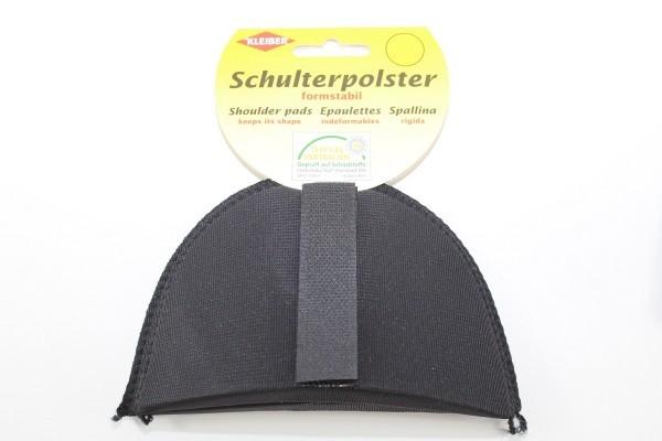 Schulterpolster, Halbmond schwarz mit Klettverschluss