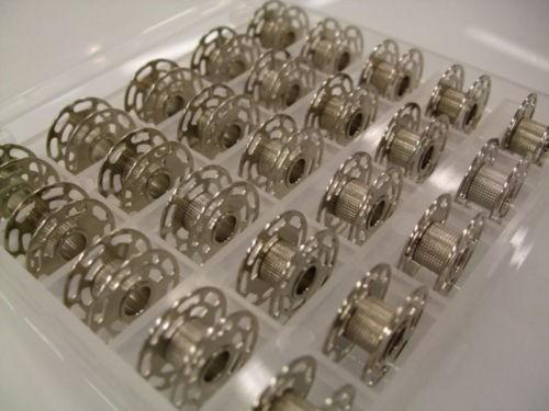 Original BERNINA Umlaufgreifer - Spulen Metall 25 Stück in Box