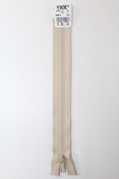 YKK - Reissverschlüsse 25 cm - 80 cm, teilbar, sand
