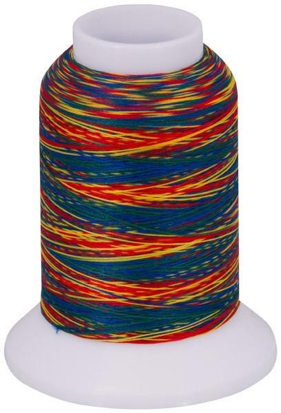 Multicolor Bauschgarn, 1000m (mehrfarbig blau/rot/gelb/grün)