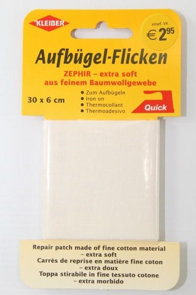 Aufbügel - Flicken 30 x 6 cm creme