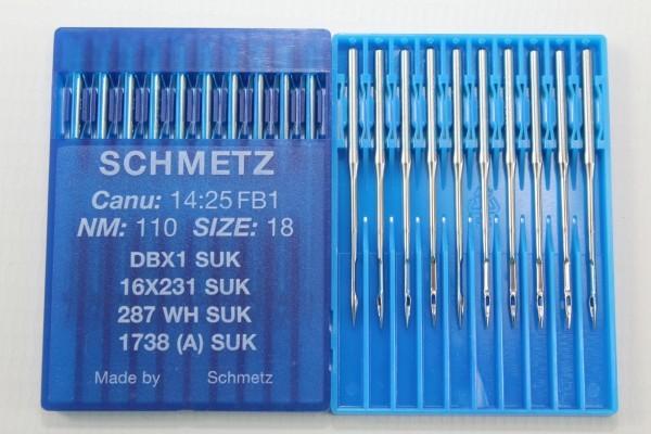 Rundkolbennadeln Stärke 110 System DBx1 SUK / 16x231 SUK / 287 WH SUK / 1738 (A) SUK