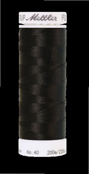 Stickgarn 200 Meter, Farbe:0020, Amann Poly Sheen