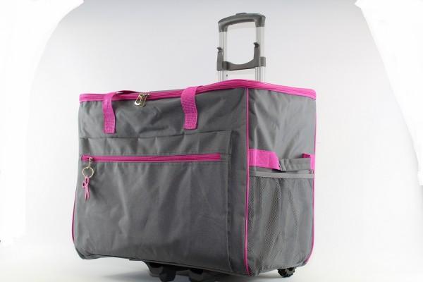 Hemline Universal Nähmaschinen Trolley (grau/pink) (gross)