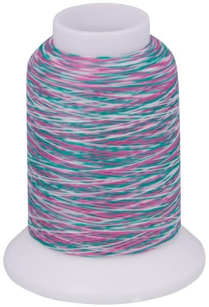 Multicolor Bauschgarn, 1000m (mehrfarbig rosa/grün/weiss)