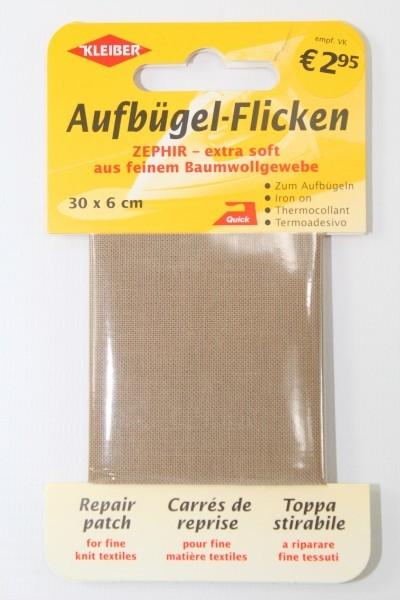 Aufbügel - Flicken 30 x 6 cm beige