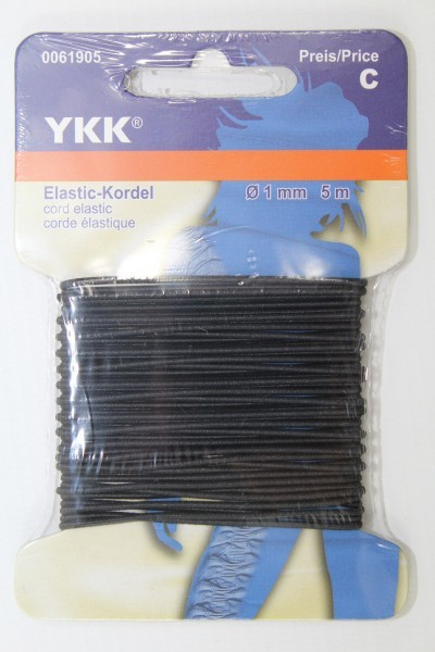 Elastic - Kordel 5 Meter ø 1mm schwarz