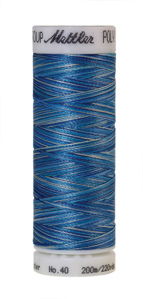 Stickgarn 200 Meter, Farbe:9605, Amann Poly Sheen Multi