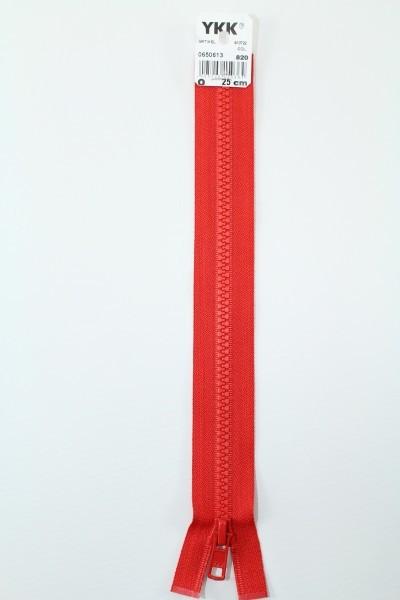 YKK - Reissverschlüsse 25 cm - 80 cm, teilbar, hochrot