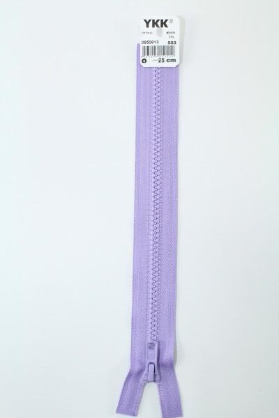 YKK - Reissverschlüsse 25 cm - 80 cm, teilbar, pastellflieder