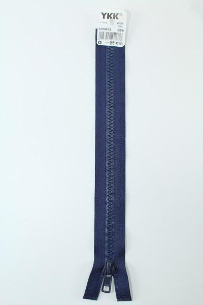 YKK - Reissverschlüsse 25 cm - 80 cm, teilbar, marine