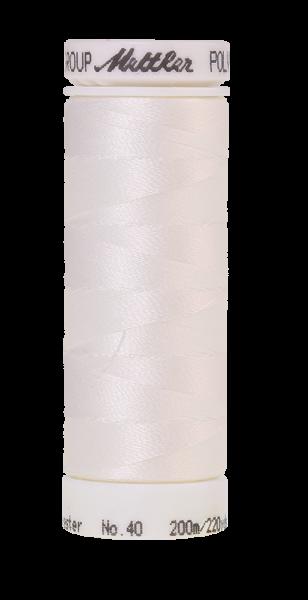 Stickgarn 200 Meter, Farbe:0010, Amann Poly Sheen