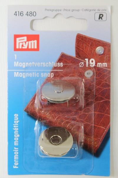 1 Magnetverschluss ø 19 mm silber