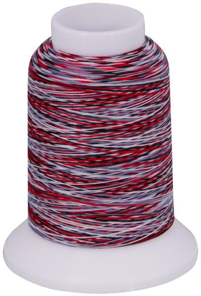 Multicolor Bauschgarn, 1000m (mehrfarbig schwarz/blau/rot/weiss)