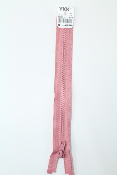 YKK - Reissverschlüsse 25 cm - 80 cm, teilbar, altrosa