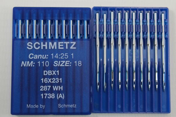 Rundkolbennadeln Stärke 110 System DBx1 / 16x231 / 287 WH / 1738 (A)