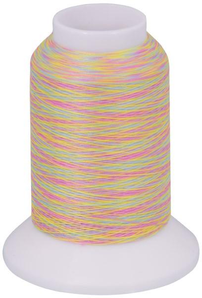 Multicolor Bauschgarn, 1000m (mehrfarbig gelb/grün/rosa)
