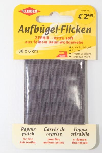 Aufbügel - Flicken 30 x 6 cm dunkelgrau