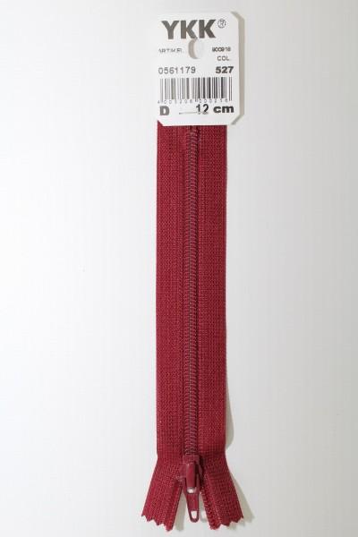 YKK-Reissverschluss 12cm-60cm, nicht teilbar, weinrot