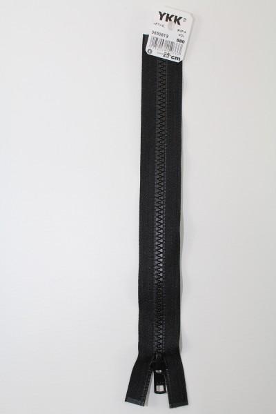YKK - Reissverschlüsse 25 cm - 80 cm, teilbar, schwarz