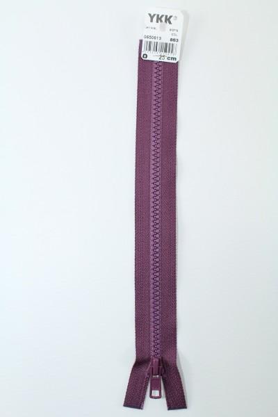 YKK - Reissverschlüsse 25 cm - 80 cm, teilbar, aubergine