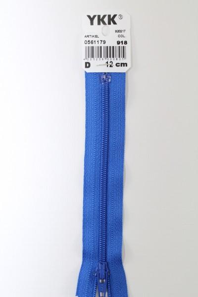 YKK-Reissverschluss 12cm-60cm, nicht teilbar, königsblau