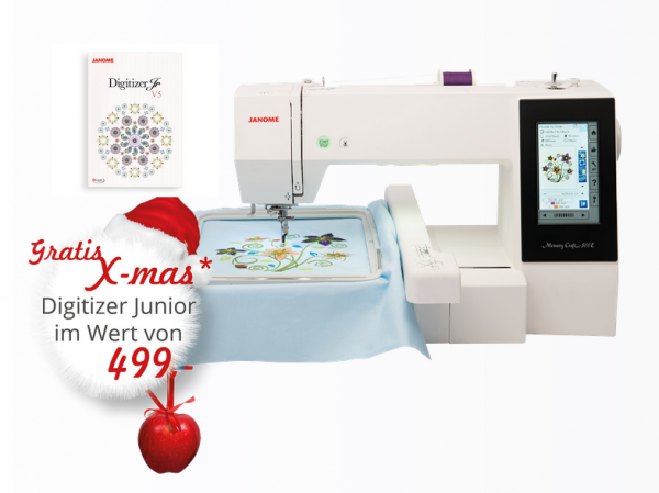 Janome Memory Craft 500 E mit Sticksoftware Embroidery Editor