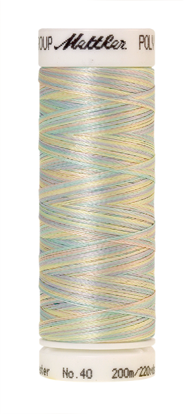 Stickgarn 200 Meter, Farbe:9936, Amann Poly Sheen Multi