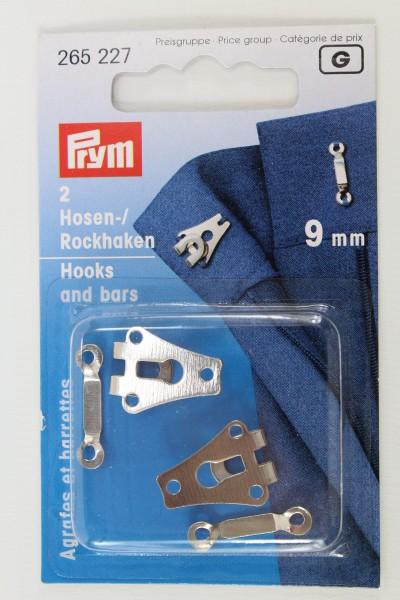 2 Hosen-/ Rockhaken 9mm silber