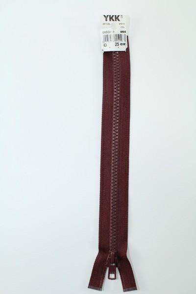 YKK - Reissverschlüsse 25 cm - 80 cm, teilbar, bordeauxrot
