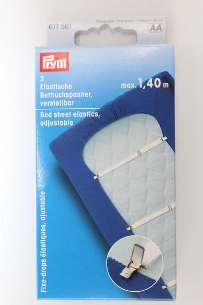 3 Elastische Betttuchspanner, verstellbar