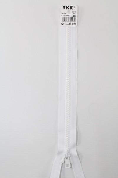 YKK - Reissverschlüsse 25 cm - 80 cm, teilbar, weiss