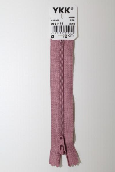 YKK-Reissverschluss 12cm-60cm, nicht teilbar, pastellviolett