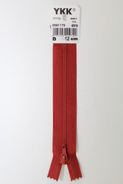 YKK-Reissverschluss 12cm-60cm, nicht teilbar, hellbordeaux