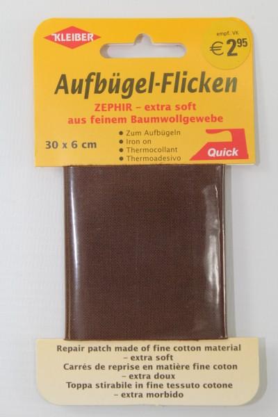 Aufbügel - Flicken 30 x 6 cm dunkelbraun