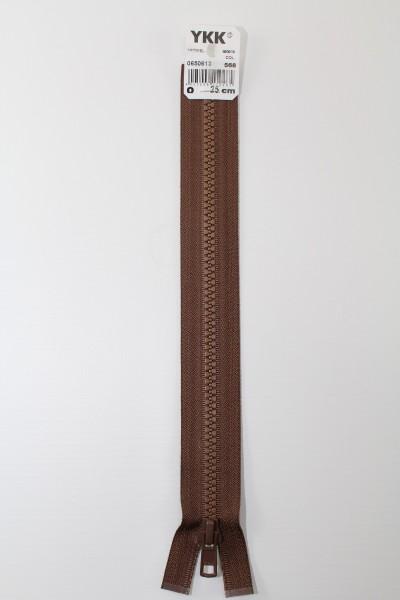 YKK - Reissverschlüsse 25 cm - 80 cm, teilbar, tabak