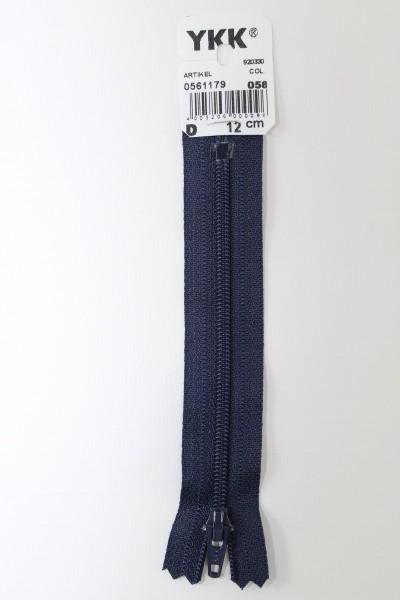 YKK-Reissverschluss 12cm-60cm, nicht teilbar, marine