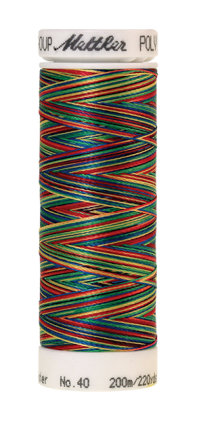 Stickgarn 200 Meter, Farbe:9937, Amann Poly Sheen Multi