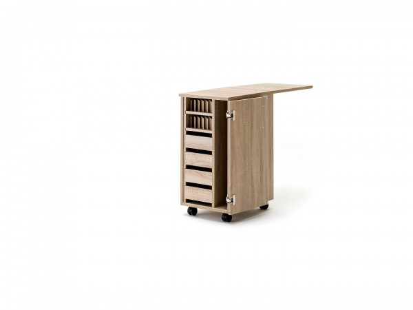 EXTEND Türen Kleinteile Container schmal mit 2 PIN-Bodenauszüge