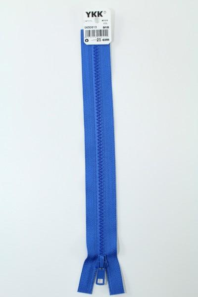 YKK - Reissverschlüsse 25 cm - 80 cm, teilbar, königsblau