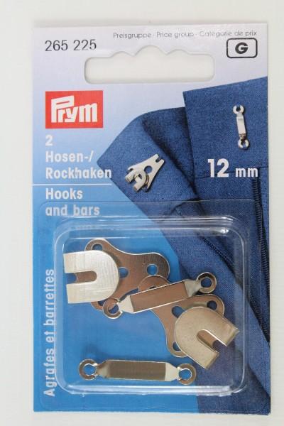 2 Hosen-/ Rockhaken 12mm silber