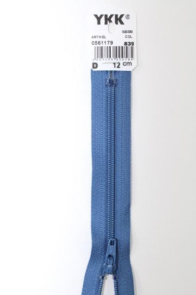 YKK-Reissverschluss 12cm-60cm, nicht teilbar, jeansblau